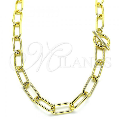 Gold Layered 04.341.0067.18 Fancy Necklace, Polished Finish, Golden Tone