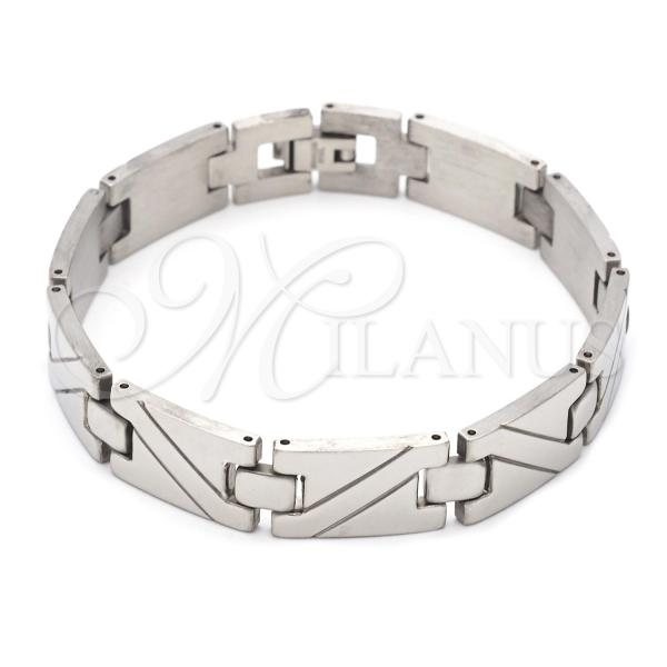Stainless Steel 03.63.1560.08 Solid Bracelet, Polished Finish, Steel Tone