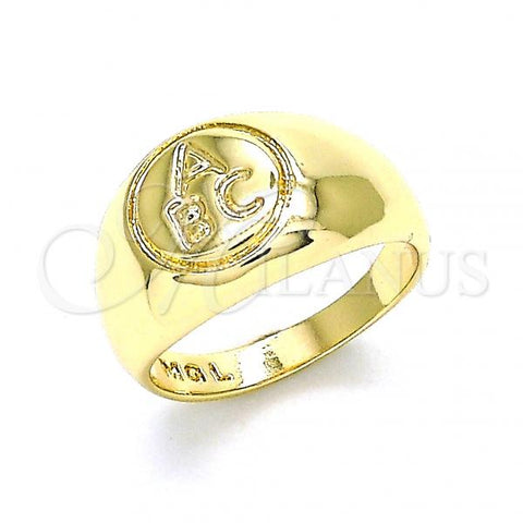 Gold Layered Baby Ring, Golden Tone