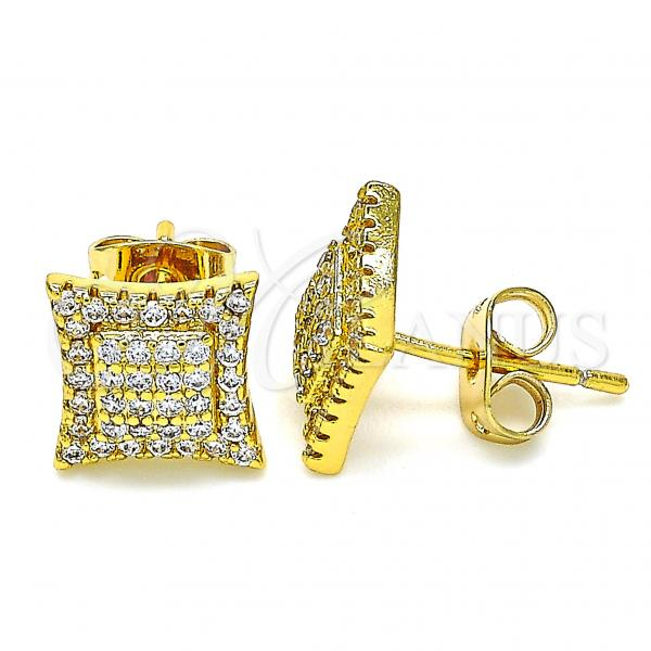 Gold Layered 02.342.0048 Chandelier Earring, with White Micro Pave, Polished Finish,