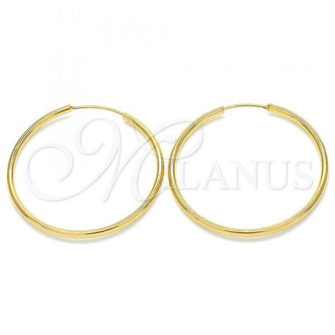 Gold Layered 02.32.0554.30 Small Hoop, Wings Design, Polished Finish, Golden Tone