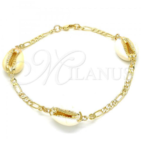 Gold Layered 03.63.2083.10 Fancy Anklet, Polished Finish, Golden Tone