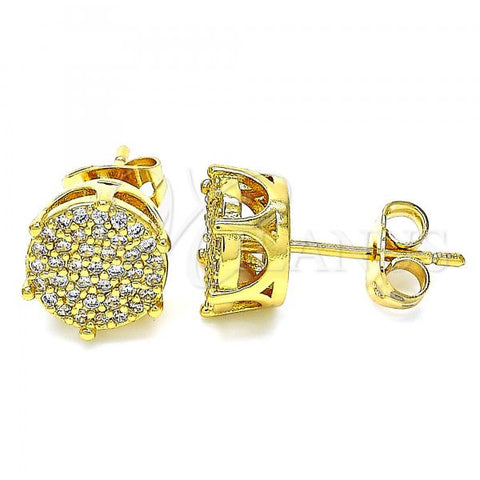 Gold Layered 02.342.0022 Stud Earring, with White Cubic Zirconia, Polished Finish, Golden Tone
