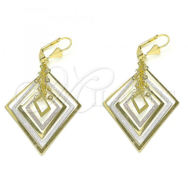Gold Layered 02.351.0068 Long Earring, Polished Finish, Tri Tone
