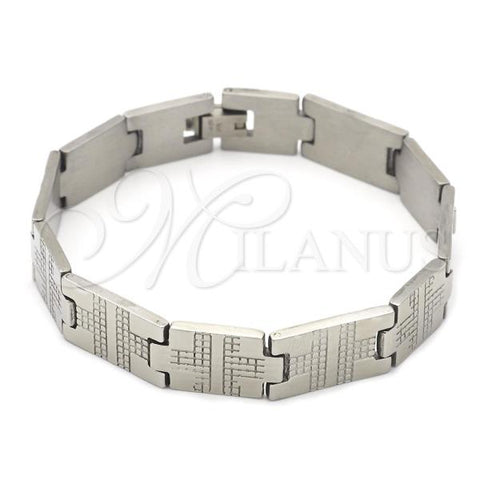 Stainless Steel 03.63.1563.08 Solid Bracelet, Polished Finish, Steel Tone