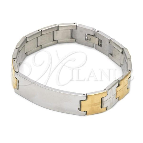 Stainless Steel 03.114.0251.08 Solid Bracelet, Polished Finish, Two Tone
