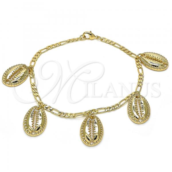 Gold Layered 03.63.2078.10 Charm Anklet , Polished Finish, Golden Tone