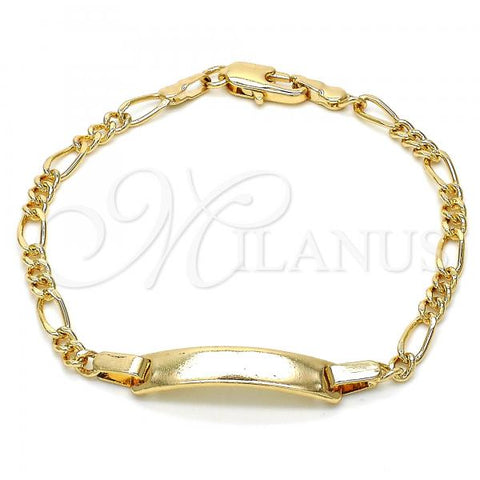 Gold Layered 03.63.1842.06 ID Bracelet, Polished Finish, Golden Tone