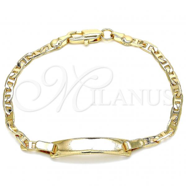 Gold Layered 03.63.2150.06 ID Bracelet, Polished Finish, Golden Tone