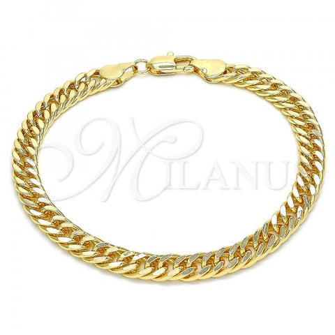 Gold Layered 04.63.1404.08 Basic Bracelet, Polished Finish, Golden Tone