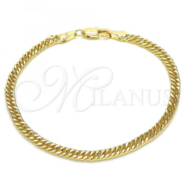 Gold Layered 04.63.1403.08 Basic Bracelet, Polished Finish, Golden Tone