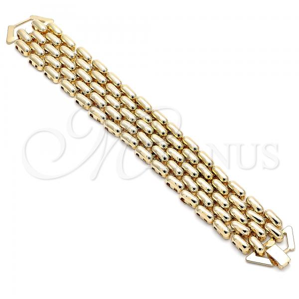Gold Layered 03.331.0103.08 Fancy Bracelet, Polished Finish, Golden Tone
