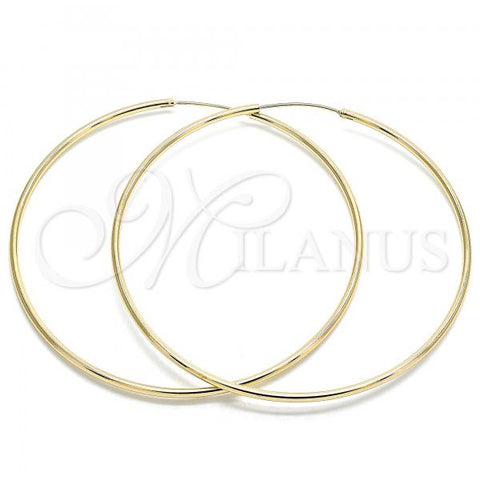 Gold Layered 02.170.0156.80 Extra Large Hoop, Polished Finish, Golden Tone