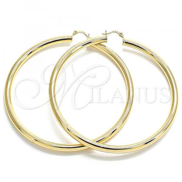 Gold Layered 02.170.0314.90 Extra Large Hoop, Polished Finish, Golden Tone