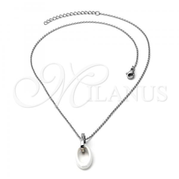 Stainless Steel 04.113.0013.18 Fancy Necklace, Steel Tone
