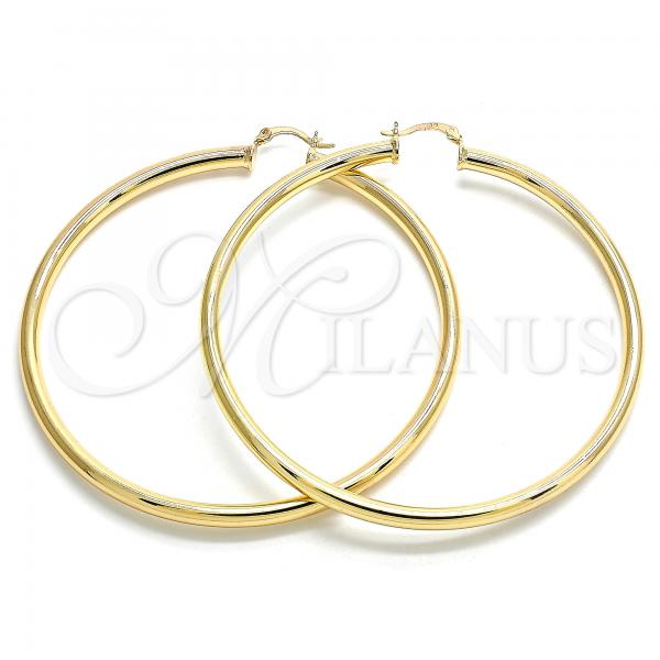 Gold Layered 02.170.0235.80 Extra Large Hoop, Polished Finish, Golden Tone