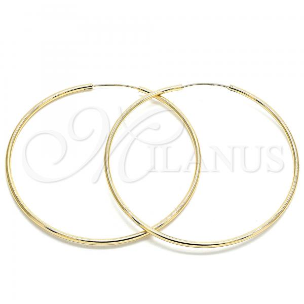 Gold Layered 02.170.0156.70 Extra Large Hoop, Polished Finish, Golden Tone