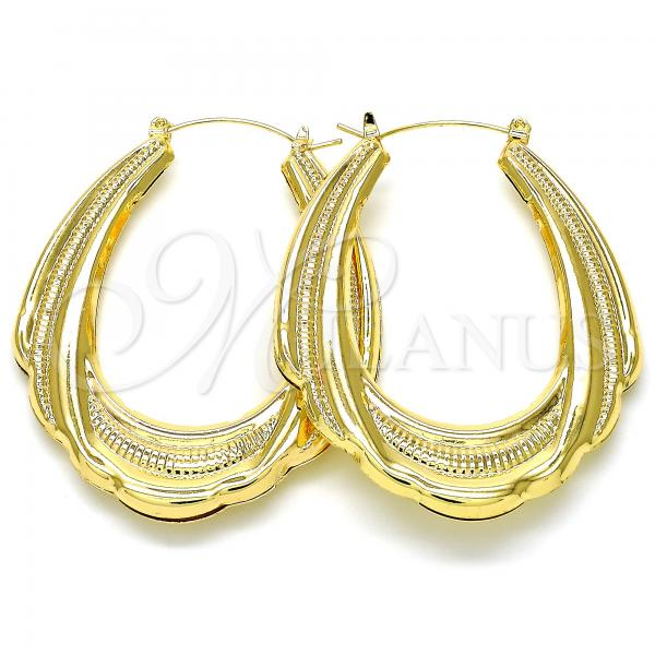 Gold Layered 02.170.0269.45 Medium Hoop, Polished Finish, Golden Tone