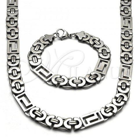 Stainless Steel 06.256.0001 Necklace and Earring, Polished Finish, Steel Tone