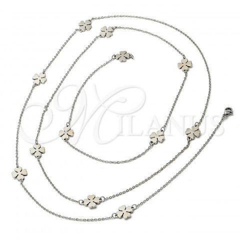 Stainless Steel 04.220.0003 Fancy Necklace, Polished Finish, Steel Tone