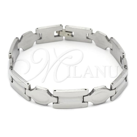 Stainless Steel 03.63.1572.08 Solid Bracelet, Polished Finish, Steel Tone