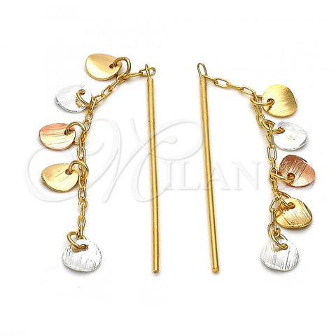 Gold Layered 02.32.0132 Chandelier Earring, Polished Finish, Tri Tone