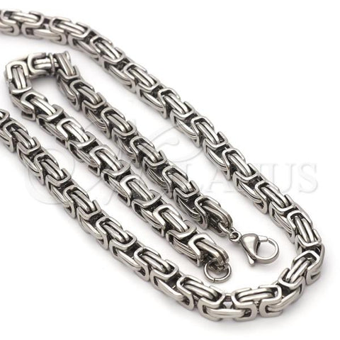 Stainless Steel 03.63.1735.22 Necklace and Bracelet, Polished Finish, Steel Tone
