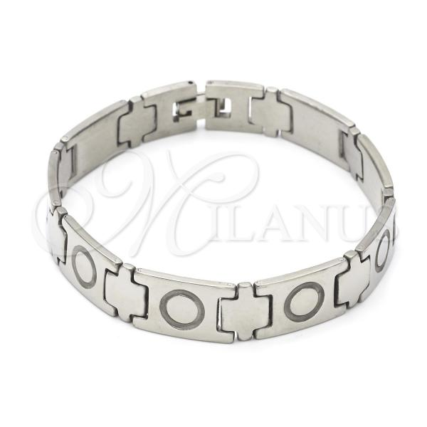 Stainless Steel 03.63.1577.08 Solid Bracelet, Polished Finish, Steel Tone
