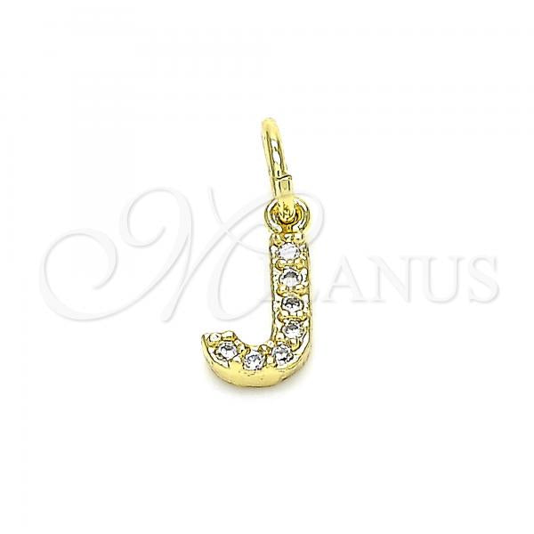 Gold Layered 05.341.0030 Fancy Pendant, Initials Design, with White Cubic Zirconia, Polished Finish, Golden Tone
