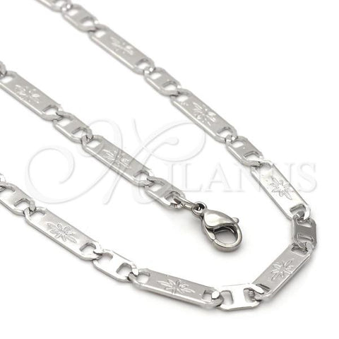 Stainless Steel 04.113.0058.24 Necklace and Bracelet, Mariner Design, Steel Tone