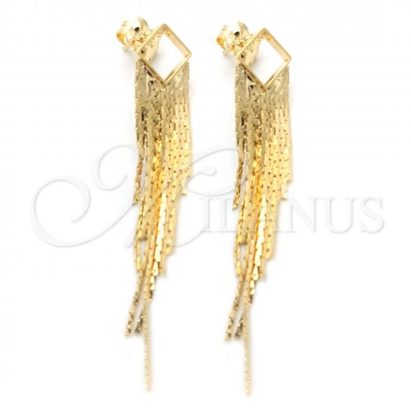 Gold Layered 02.58.0005 Long Earring, Polished Finish, Golden Tone