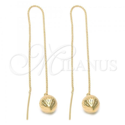 Gold Layered 5.114.002 Threader Earring, Strawberry Design, Golden Tone