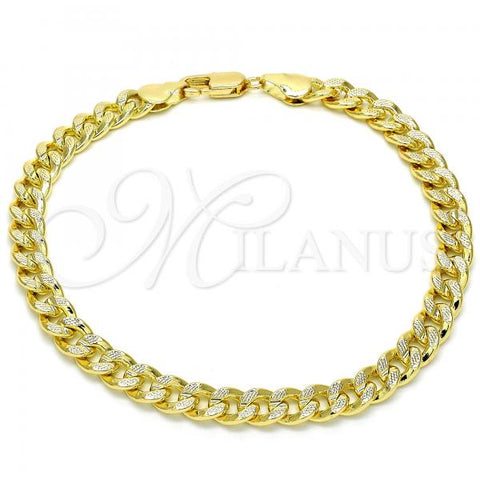 Gold Layered 04.213.0155.08 Basic Bracelet, Polished Finish, Golden Tone