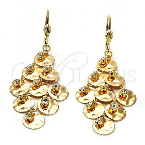 Gold Layered 5.094.005 Chandelier Earring, with White Cubic Zirconia, Polished Finish, Golden Tone