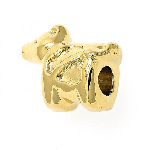 Gold Layered 05.179.0034 Love Link Pendant, Dog Design, Golden Tone