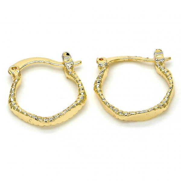 Gold Layered Small Hoop, Tri Tone