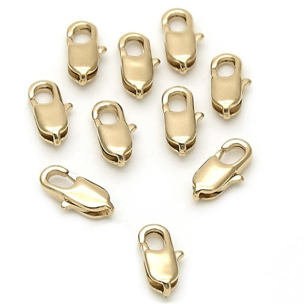 Gold Layered 5.234.003.10 Lobster Clasp, Polished Finish, Golden Tone