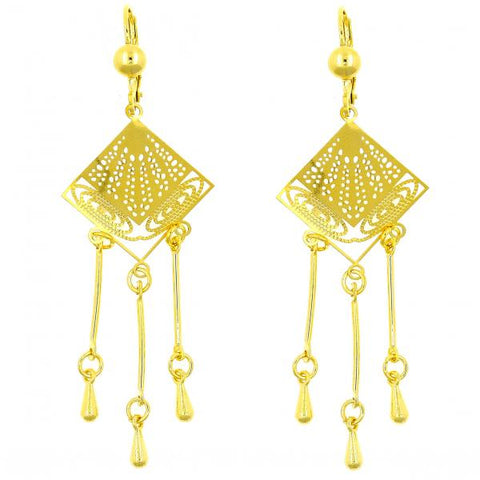 Gold Layered 02.211.0010 Chandelier Earring, Polished Finish, Golden Tone