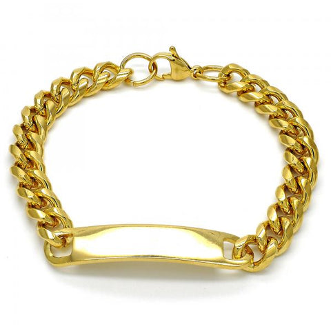 Stainless Steel 03.269.0008.08 ID Bracelet, Polished Finish, Golden Tone