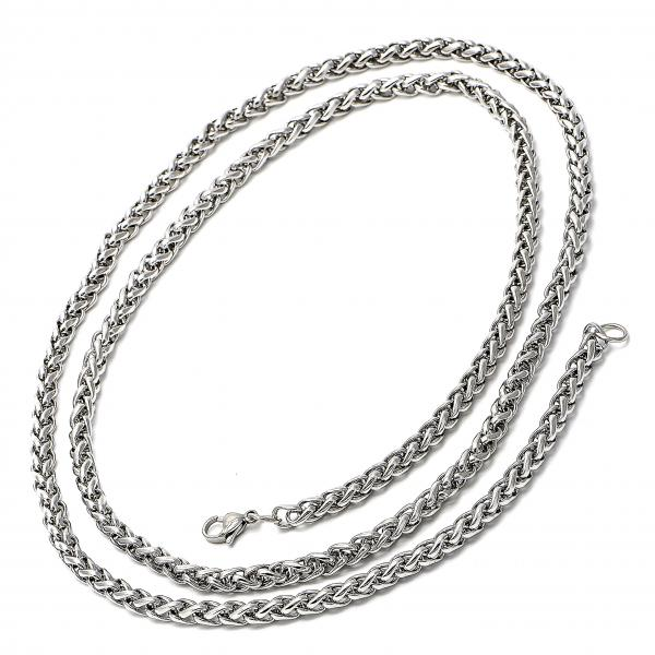 Stainless Steel 04.113.1736 Basic Necklace, Twist Design, Steel Tone