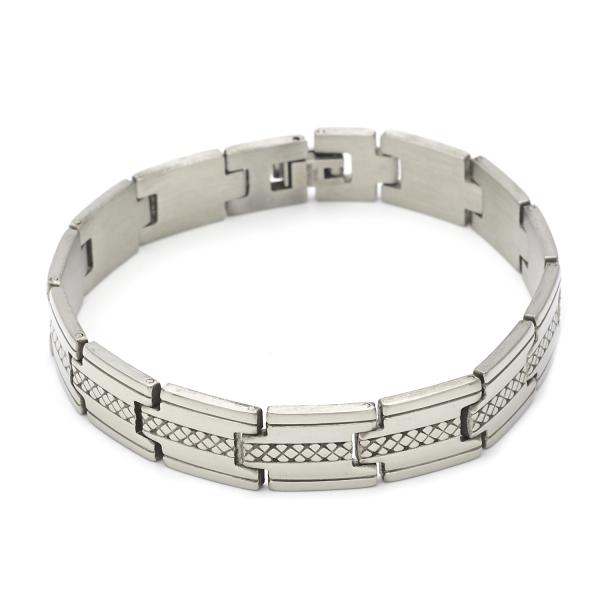 Stainless Steel 03.63.1571.08 Solid Bracelet, Polished Finish, Steel Tone