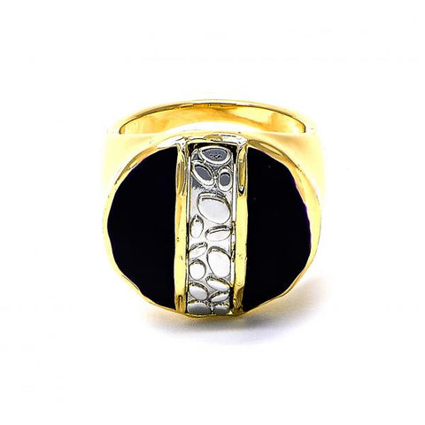 Gold Layered Mens Ring, Two Tone