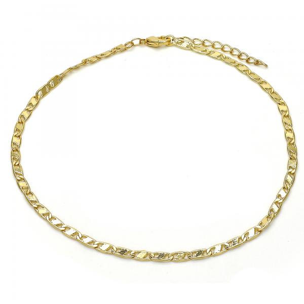 Gold Layered 04.213.0132.10 Basic Anklet, Polished Finish, Golden Tone
