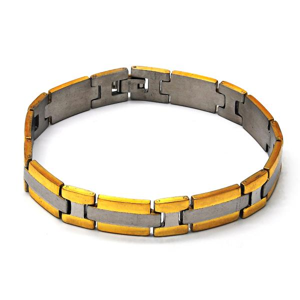 Stainless Steel 03.63.1459.08 Solid Bracelet, Polished Finish, Two Tone