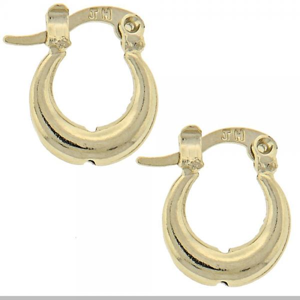 Gold Layered 02.63.1542 Small Hoop, Polished Finish, Golden Tone
