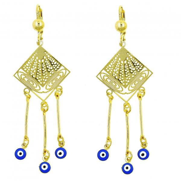 Gold layered 022110006 chandelier earring greek eye design with gold layered 022110006 chandelier earring greek eye design with sapphire blue opal aloadofball Image collections