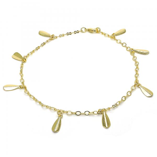 Gold Layered 03.63.1853.10 Charm Anklet , Polished Finish, Golden Tone