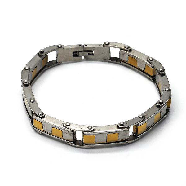 Stainless Steel 03.63.1425.08 Solid Bracelet, Polished Finish, Two Tone