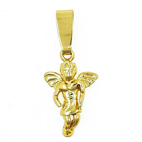 Gold Layered 5.182.028 Religious Pendant, Angel Design, Polished Finish, Golden Tone