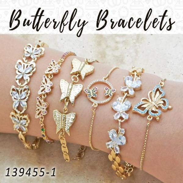 20 Butterfly Bracelets in Gold Layered ($5.00) ea